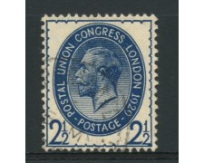 1929 - LOTTO/12335 - GRAN BRETAGNA - 2,5p. CONGRESSO UPU - USATO