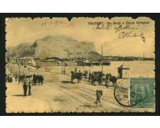 1910 - LOTTO/12368 - REGNO -  5+5c. GARIBALDI SU CARTOLINA DA PALERMO -