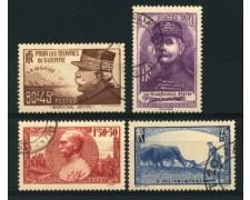 1940 - LOTTO/12373 - FRANCIA - PRO OPERE DI GUERRA 4v. - USATI