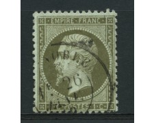 1862 - LOTTO/12373 - FRANCIA - 1c. VERDE OLIVA NAPOLEONE III° - USATO