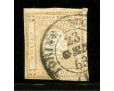 1862 - LOTTO/12375 - REGNO - 2c. BISTRO CIFRA IN RILIEVO - USATO