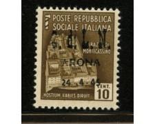 ARONA - 1945 - LOTTO/12394 - 10c. MONUMENTI DISTRUTTI - NUOVO