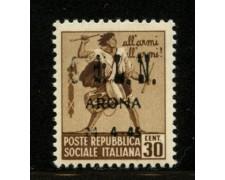 ARONA - 1945 - LOTTO/12396 - 30c. MONUMENTI DISTRUTTI - NUOVO
