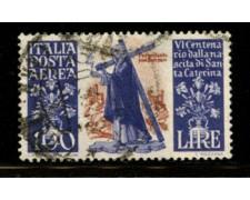 1948 - LOTTO/12404 - REPUBBLICA - 100 LIRE S.CATERINA POSTA AEREA - USATO