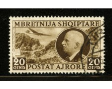 1939 - LOTTO/12415 - ALBANIA ITALIANA - 20q. POSTA AEREA - USATO