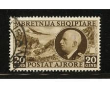 1939 - LOTTO/12416 - ALBANIA ITALIANA - 20q. POSTA AEREA - USATO