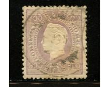 1883 - LOTTO/12432 - PORTOGALLO - 300r.  VIOLETTO - USATO