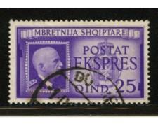 1940 - LOTTO/12436 - ALBANIA ITALIANA - 25q. ESPRESSO - USATO