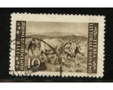 1945 - LOTTO/12451 - ISTRIA - 10 L. BRUNO - USATO
