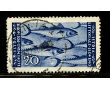 1946 - LOTTO/12452 - ISTRIA - 20 LIRE AZZURRO - USATO