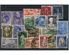 1949/50 - LOTTO/12459 - ITALIA REPUBBLICA - LOTTO DI 19 VALORI - USATI