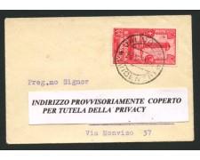 VALDAGNO - 1931 - LOTTO/12466 - REGNO - 20c. ACCADEMIA LIVORNO - BUSTA PER MILANO
