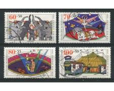 1989 - LOTTO/12471 - GERMANIA - PRO GIOVENTU' IL CIRCO 4v. - USATI