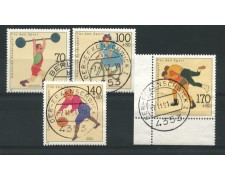 1991 - LOTTO/12476 - GERMANIA - A PROFFITTO DELLO SPORT 4v. - USATI