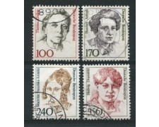 1988 - LOTTO/12485 - GERMANIA - DONNE CELEBRI 4v. - USATI