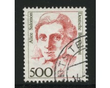 1989 - LOTTO/12486 - GERMANIA - 500p. DONNE CELEBRI - USATO