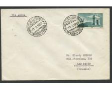 1958 - LOTTO/12490 - REPUBBLICA - VISITA DEL PRESIDENTE IN BRASILE - BUSTA VIAGGIATA