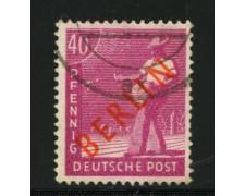 1949 - LOTTO/12501 - BERLINO - 40p. LILLA ROSA - USATO