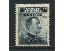 EGEO/RODI - 1916 - LOTTO/12512 - 20 SU 15c. GRIGIO - LING.