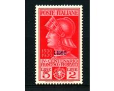 EGEO/LIPSO - 1930 - LOTTO/12515 -  5+2 LIRE  FRANCESCO FERRUCCI - LING.