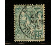 1891 - LOTTO/12524 - MONACO - 25 c. VERDE  - USATO