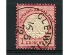 1872 - LOTTO/12555 - GERMANIA IMPERO - 1g. ROSA CARMINIO - USATO