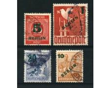 1949 - LOTTO/12560 - BERLINO - SOPRASTAMPATI ZONE A.I.S. 4v. - USATI