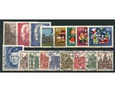 1964 - LOTTO/12591 - BERLINO - ANNATA COMPLETA DI  17 VALORI - USATI