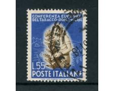 1950 - REPUBBLICA - 55 LIRE TABACCO - USATO - LOTTO/12601A