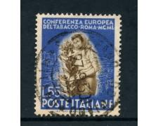 1950 - REPUBBLICA - 55 LIRE TABACCO - USATO - LOTTO/12601B