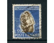 1950 - REPUBBLICA - 55 LIRE TABACCO - USATO - LOTTO/12601C