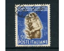 1950 - REPUBBLICA - 55 LIRE TABACCO - USATO - LOTTO/12601D