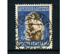 1950 - REPUBBLICA - 55 LIRE TABACCO - USATO - LOTTO/12601E