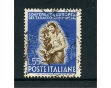 1950 - REPUBBLICA - 55 LIRE TABACCO - USATO - LOTTO/12601F