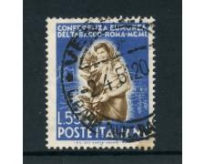 1950 - REPUBBLICA - 55 LIRE TABACCO - USATO - LOTTO/12601G