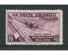 1933 - LOTTO/12611 -  COLONIE EMISSIONI GEN.- 75c. P/A  MARCIA SU ROMA - LING.