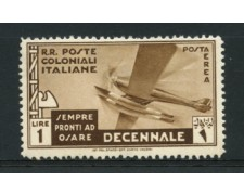 1933 - LOTTO/12612 - COLONIE EMISSIONI GEN. -  P/A  1 LIRA MARCIA SU ROMA - LING.
