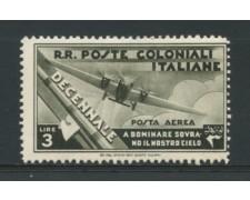 1933 - LOTTO/12613 - COLONIE EMISSIONI GEN. -  P/A  3 LIRE MARCIA SU ROMA - LING.