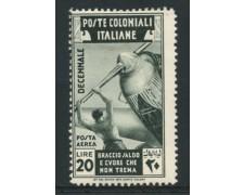 1933 - LOTTO/12615 - COLONIE EMISSIONI GEN. -  P/A  20 LIRE MARCIA SU ROMA - LING.