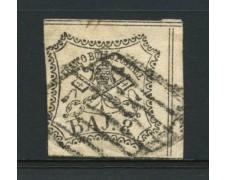 STATO PONTIFICIO - 1852 - LOTTO/12721 -  8 BAJ  BIANCO - USATO
