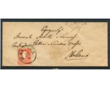 LOMBARDO VENETO - 1860 - LOTTO/12723 - 5s. ROSSO II° TIPO SU BUSTA ANNULLO MANTOVA