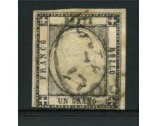 1861 - lotto/12731 - regno - 1 gr. GRIGIO NERO - USATO