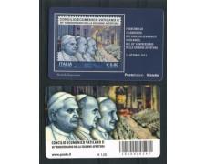 2012 - LOTTO/12737 - REPUBBLICA - 50° ANNIV. CONCILIO ECUMENICO VATICANO II° - TESSERA