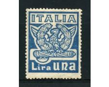 1923 - LOTTO/12753 - REGNO - 1 Lira  MARCIA SU ROMA - LING.
