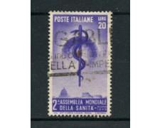 1949 - LOTTO/12803B - ITALIA REPUBBLICA - ORGANIZ. SANITA' - USATO