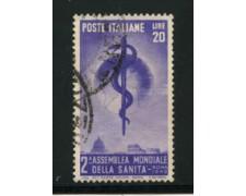 1949 - LOTTO/12803A - 20 LIRE  ORG. SANITA' - USATO