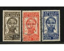 1934 - LOTTO/12854 - PORTOGALLO - ESPOSIZIONE COLONIALE 3v. - USATI