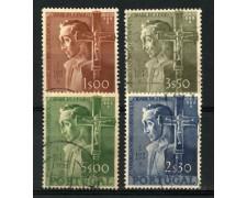 1954 - LOTTO/12858 - PORTOGALLO - MANUEL DA NOBREGA 4v. - USATI