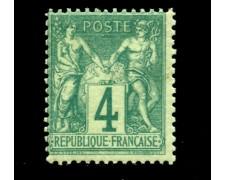 1876/81 - LOTTO/12865 - FRANCIA - 4c. VERDE  TIPO SAGE - NUOVO