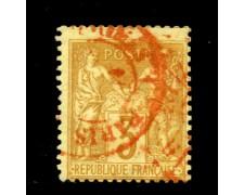 1877/80 - LOTTO/12867 - FRANCIA - 3c.  BISTRO GIALLO - USATO